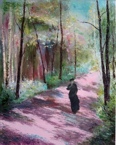 Pink Avenue, Painting, Oil on Canvas