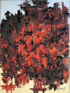 Red and Black, Painting, Oil on Canvas