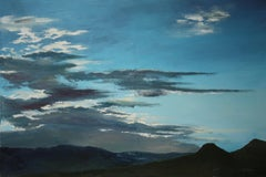 Sundown in the Mountains, Painting, Oil on Canvas
