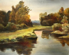 The Lake, Painting, Oil on Canvas