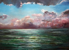 Thunderstorm over the sea, Painting, Oil on Canvas