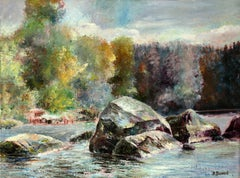 Water and stones of Karelia, Painting, Oil on Canvas
