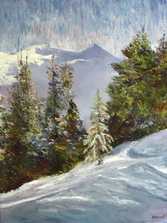 Winter in the Mountains, Painting, Oil on Canvas