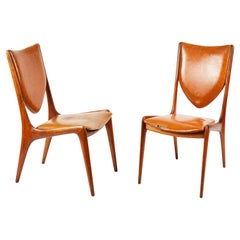 Vladmir Kagan Walnut Side Chairs
