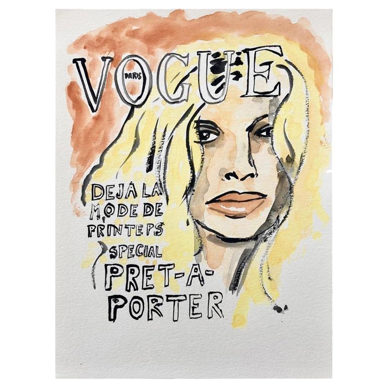 Vogue #1, Watercolor on Archival Paper,