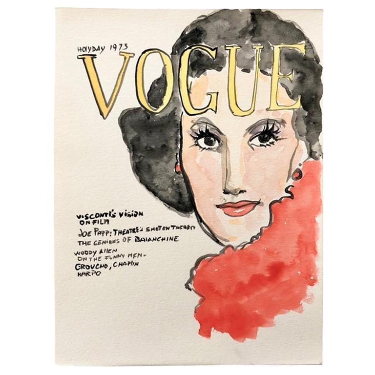 Vogue #2, Watercolor on Archival Paper