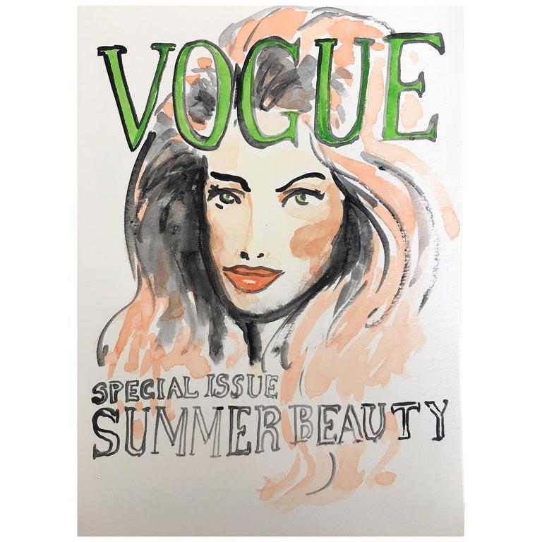 Vogue #3, 2016, Watercolor on Archival Paper