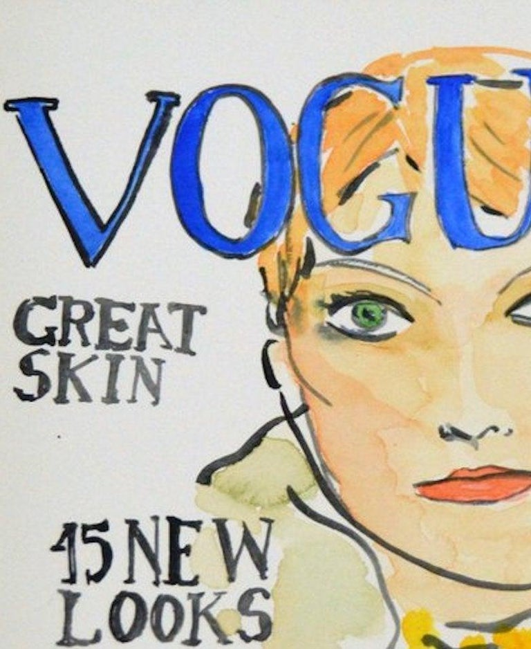 Vogue #4 by Manuel Santelices Dimensions: 12 in. H x 9 in. W  Watercolor and archival paper 2016   Manuel Santelices explores the world of fashion, society and pop culture through his illustrations. A Chilean artist and journalist living and