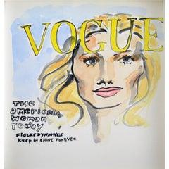 Vogue Paris, Watercolor on Archival Paper, 2016