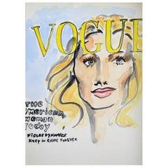 Vogue Paris, Watercolor on Archival Paper