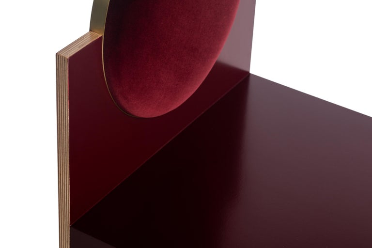 American Void Chair in Bourdeaux from the Qualia Collection by Azadeh Shladovsky For Sale