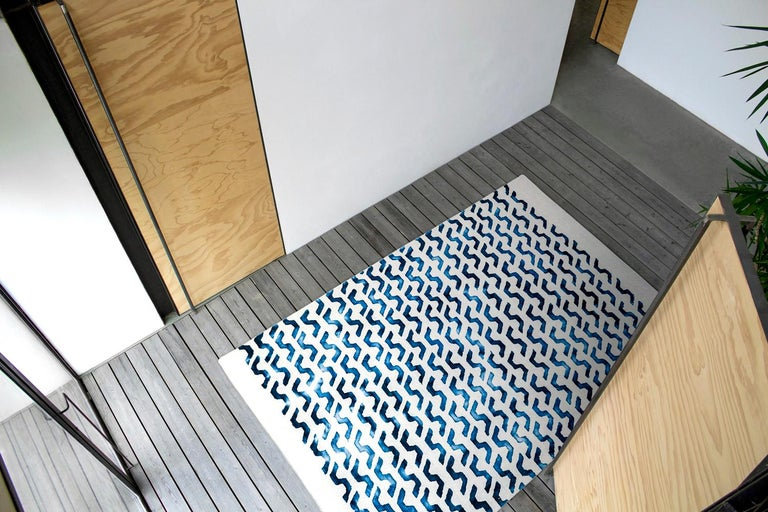 Indian Volare Hand Tufted Modern Rug in New Zealand Wool by Deanna Comellini 200x300 cm For Sale