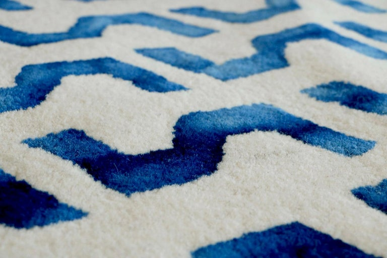 Hand-Crafted Volare Hand Tufted Modern Rug in New Zealand Wool by Deanna Comellini 200x300 cm For Sale