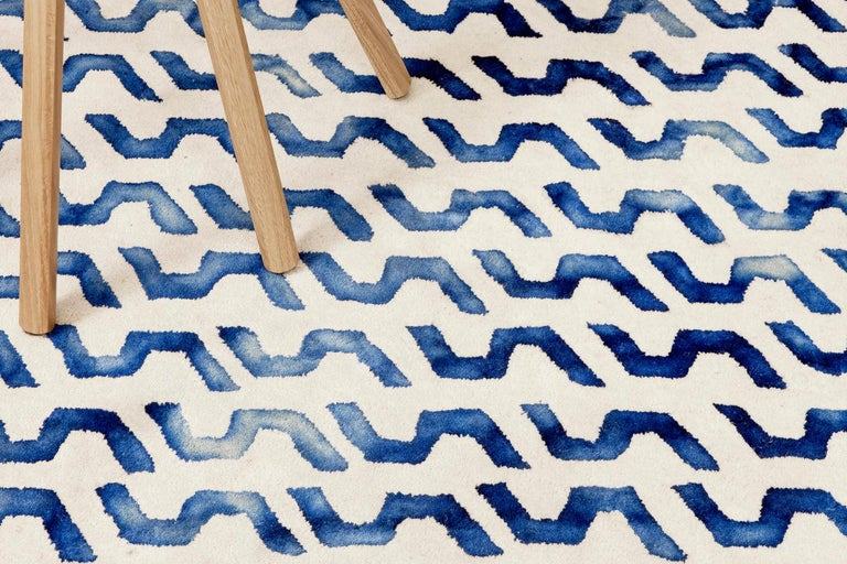 Volare Hand Tufted Modern Rug in New Zealand Wool by Deanna Comellini 200x300 cm In New Condition For Sale In Bologna, IT