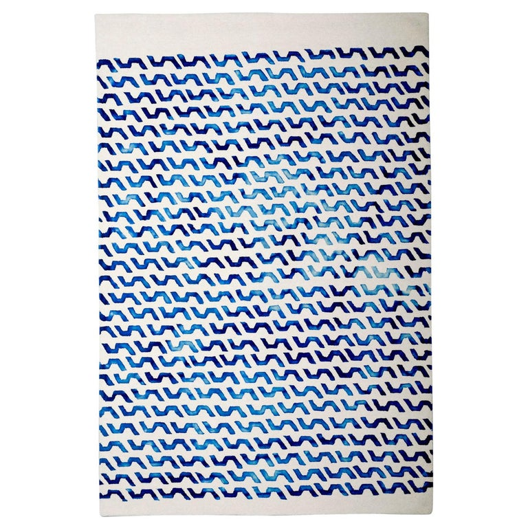 Volare Hand Tufted Modern Rug in New Zealand Wool by Deanna Comellini 200x300 cm For Sale
