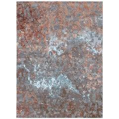 Volcanic Saga Hand-Knotted Wool and Silk 2.7 x 3.6m Rug