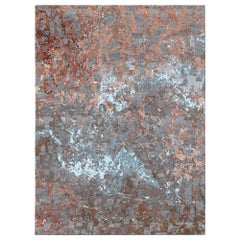 Volcanic Saga - Bedroom Big Hand Knotted Wool Silk Rug