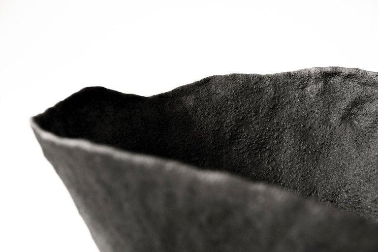 Ceramic Artwork signed by Jojo Corväiá Vessel  Measures: 30cm diameter x 22cm high Ceramic Artwork  Materials: Volcanic Clay, Alumina, Silica.  Signature Volcano glaze.   Jojo Corväiá:  In essence, I'm not interested in perfection. Being