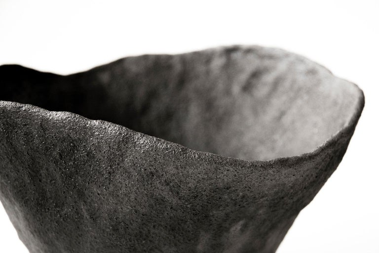 German Volcano Ceramic Artwork Signed by Jojo Corväiá, Vessel For Sale