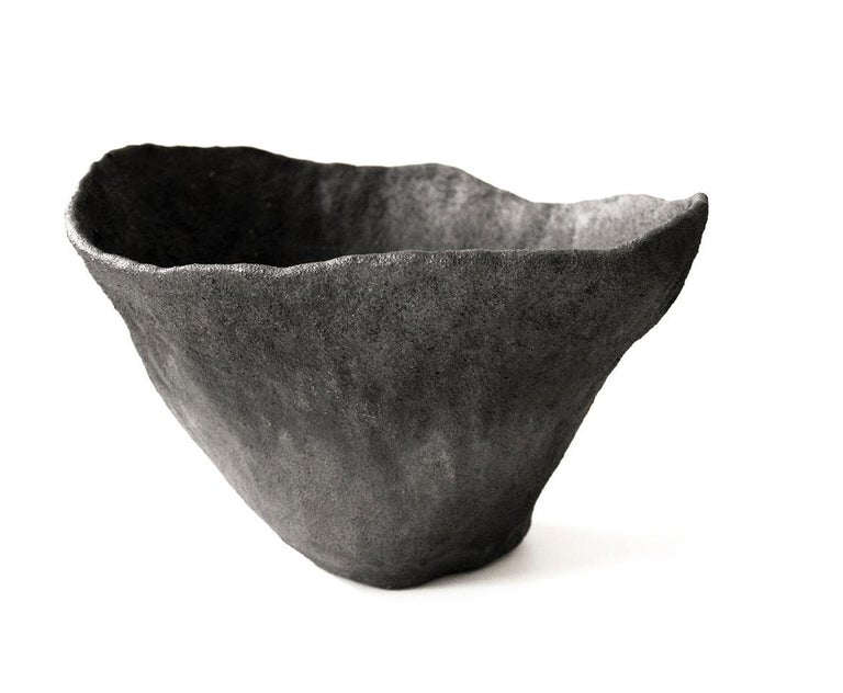 Contemporary Volcano Ceramic Artwork Signed by Jojo Corväiá, Vessel For Sale