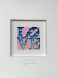 Love is in the Air (Homage to Indiana) contemporary art in boxes by Volker Kuhn
