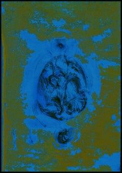 Abstract art, landscape, portrait - digital print based on graphite drawing