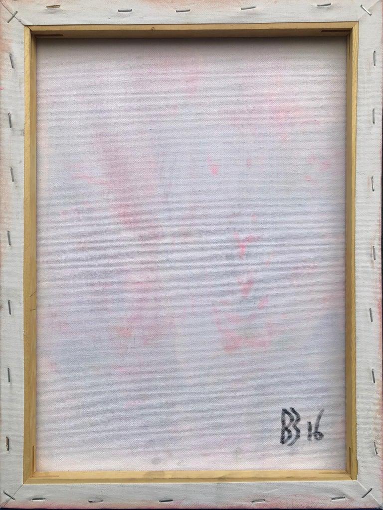 Contemporary art 21st century - painting on canvas - purple, orange, blue For Sale 7