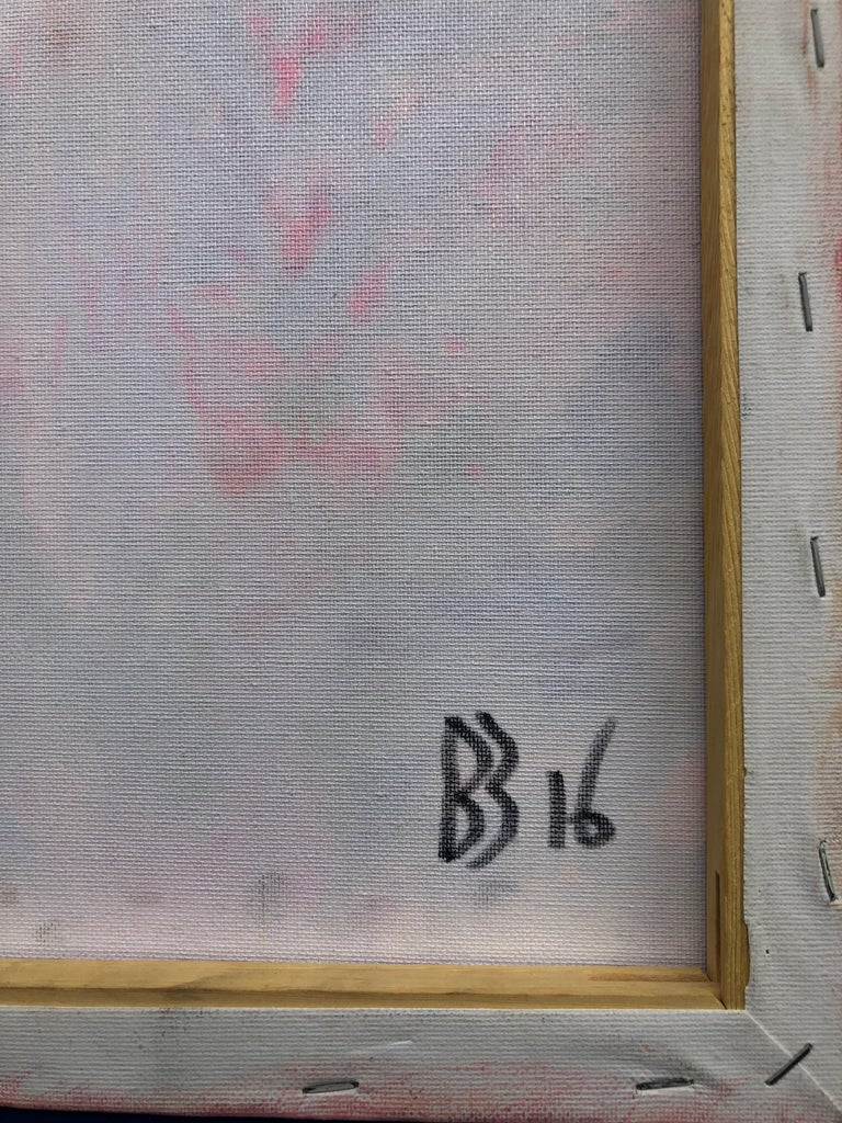 Contemporary art 21st century - painting on canvas - purple, orange, blue For Sale 8