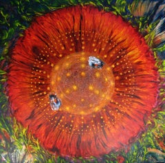 Crystallking -  Contemporary art - painting on canvas - spiritual landscape