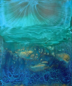 Listening JS Bach on Monday morning - contemporary abstract painting on canvas