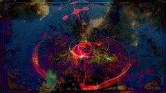 London Sky Portal - Abstract Print, Mixed Media, Digital Print, 21st Century