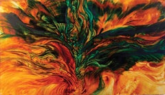 Phoenix -  Contemporary Art 21st century - oil painting on canvas
