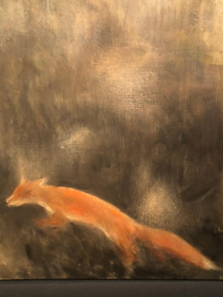 Horse and fox painting on canvas by Volodymyr Zayichenko 2