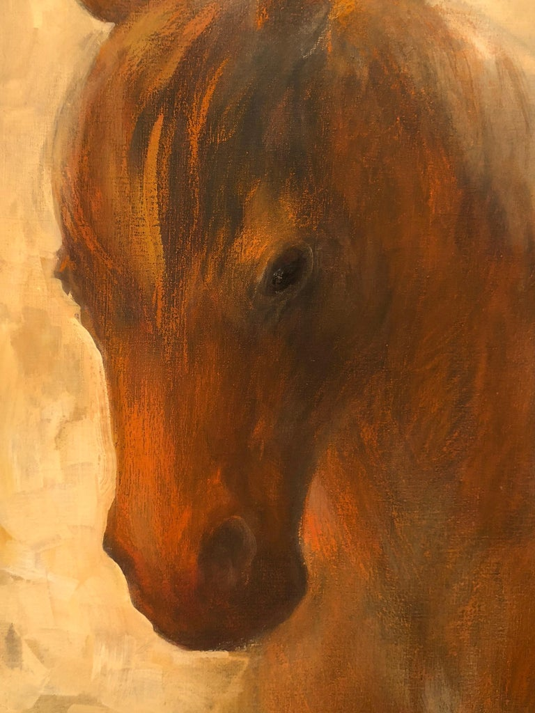 Horse and fox painting on canvas by Volodymyr Zayichenko 3