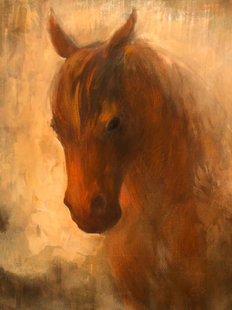 Horse and fox painting on canvas by Volodymyr Zayichenko 5