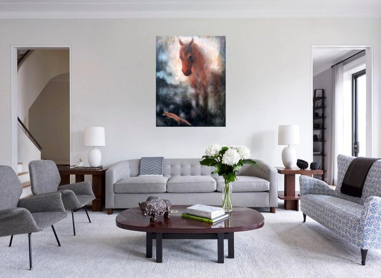 Horse and fox painting on canvas by Volodymyr Zayichenko 6