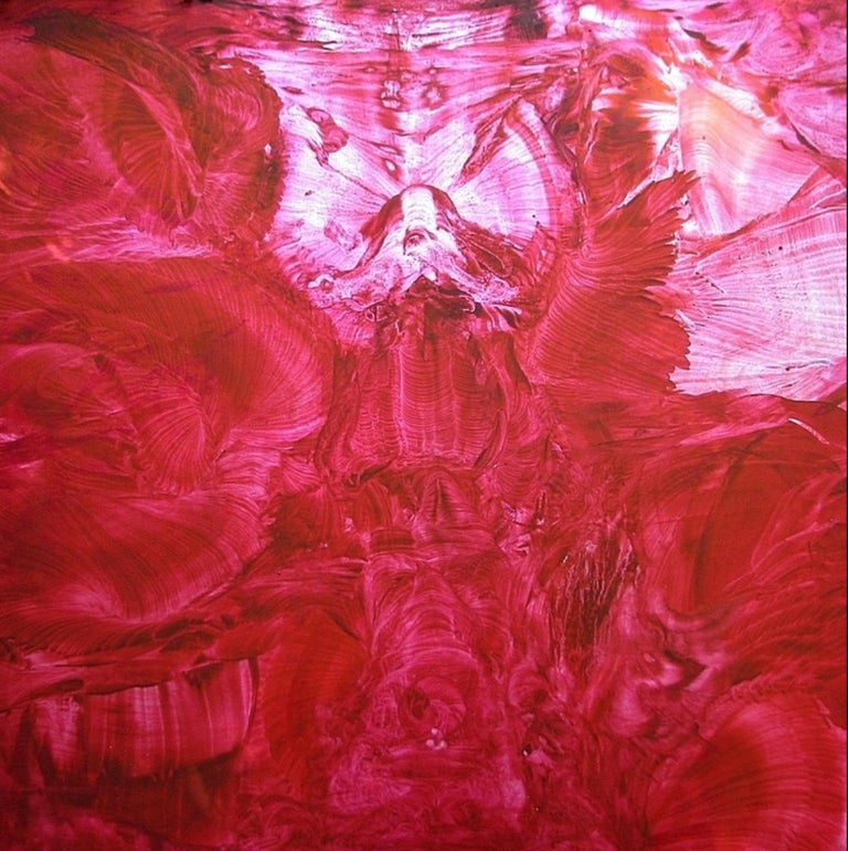 Oil on canvas painting RGB Live Apperception RED by Volodymyr Zayichenko