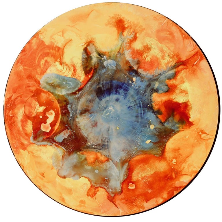Volodymyr Zayichenko Abstract Painting - Round painting on canvas - Contemporary art, 21st