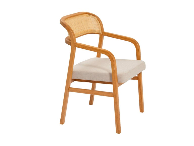 A design defined by two curved lines which join to form both legs and back of the chair.