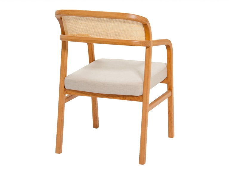 Volta Brazilian Contemporary Wood and Straw Chair by Lattoog In New Condition For Sale In Rio de Janeiro, RJ