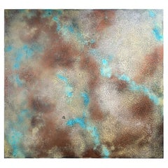 Voltage by Jessica Mayer Fine Art Textured Metal Canvas Cerused with Metal Waxes