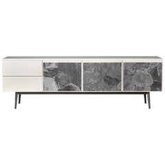 Voltaire Lacquered Top & 3 Rocks Fabric Covered Doors Cabinet, Moroso for Diesel