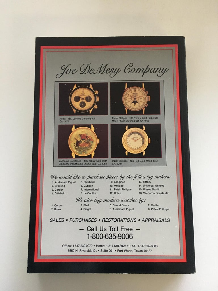 Women's or Men's VOLUME 4: Vintage American & European Wrist Watch Price Guide Published in 1989 For Sale