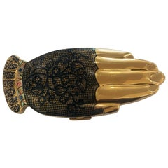 Volupte Golden Gesture Hand Compact  Gay Nineties black lace mitt