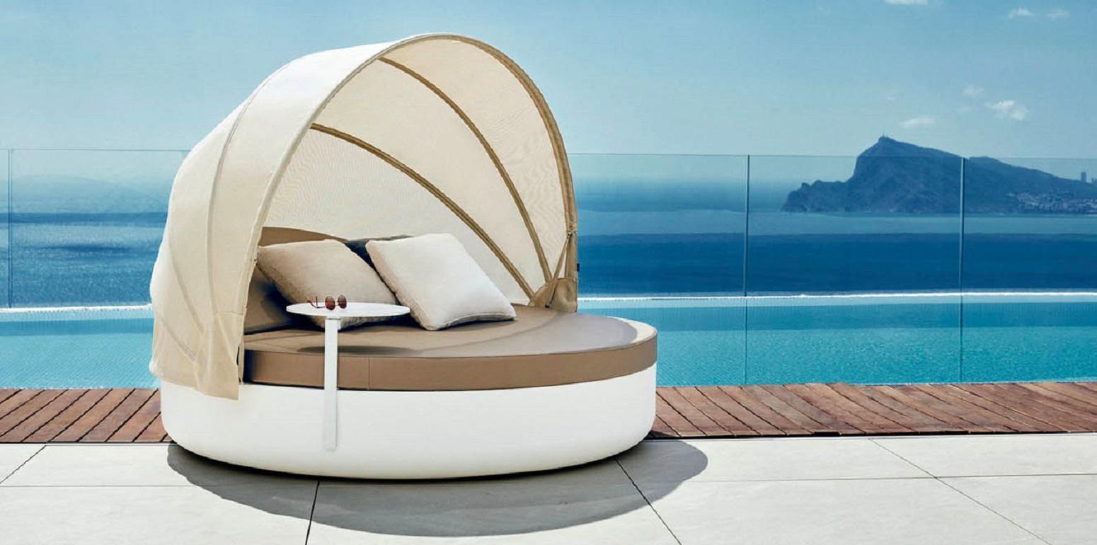 - Vondom Vela Round Daybed With Reclining Backrest And Folding