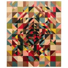 """""""Vortex"""" Marquetry Wall Piece"""