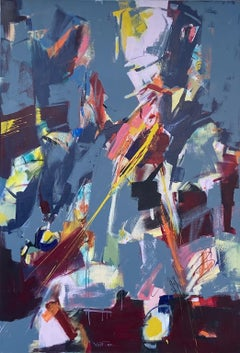 Red, Grey, Yellow, Abstract Painting