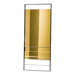 Visual rectangular mirror, designed by Lievore Altherr Molina