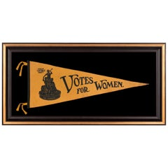 """Votes for Women"" Pennant with Image of Statuette ""Suffragist"" by Ella Buchanan"