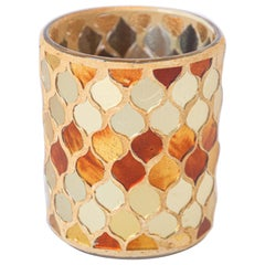 Votive Candleholder with Gold Moorish Design